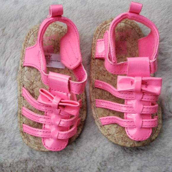 NWT Carters Infant Girls Shoes Pink Bunny Silver Rainbow Gold Heart 0-3 3-6 9-12